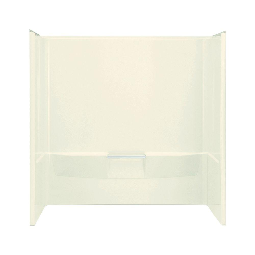 STERLING Performa 30 in. x 60 in. x 60-1/4 in. 3-piece Direct-to-Stud Tub Wall Set with Backer in Biscuit