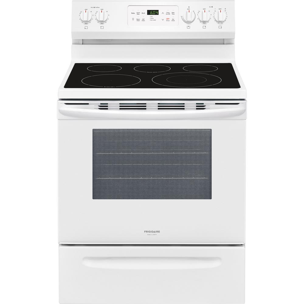 Frigidaire Gallery 30 In 5 4 Cu Ft Single Oven Electric Range With Self