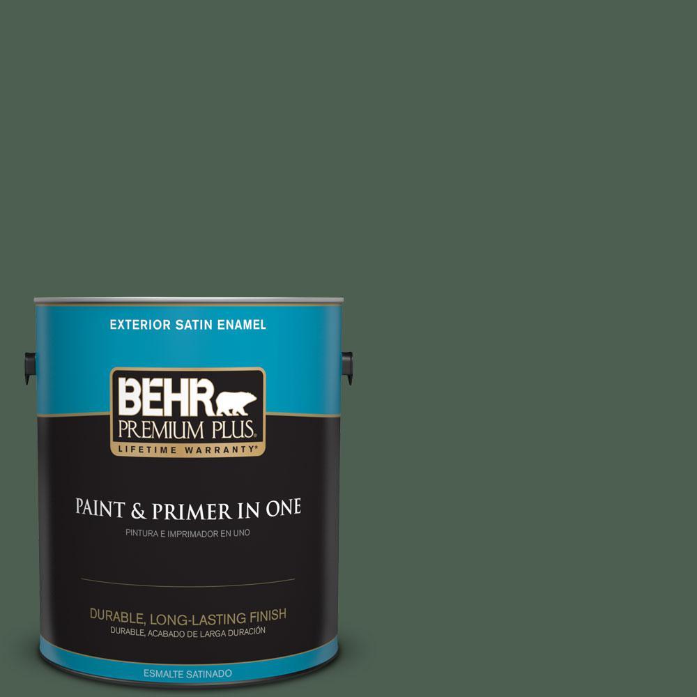 1-gal. #N400-7 Vine Leaf Satin Enamel Exterior Paint