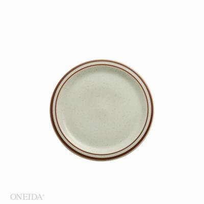 Dunes Porcelain Narrow Rim Plates 7.25 in. (Set of 36)