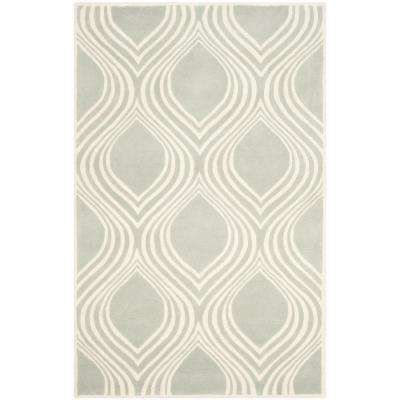 Chatham Gray/Ivory 6 ft. x 9 ft. Area Rug