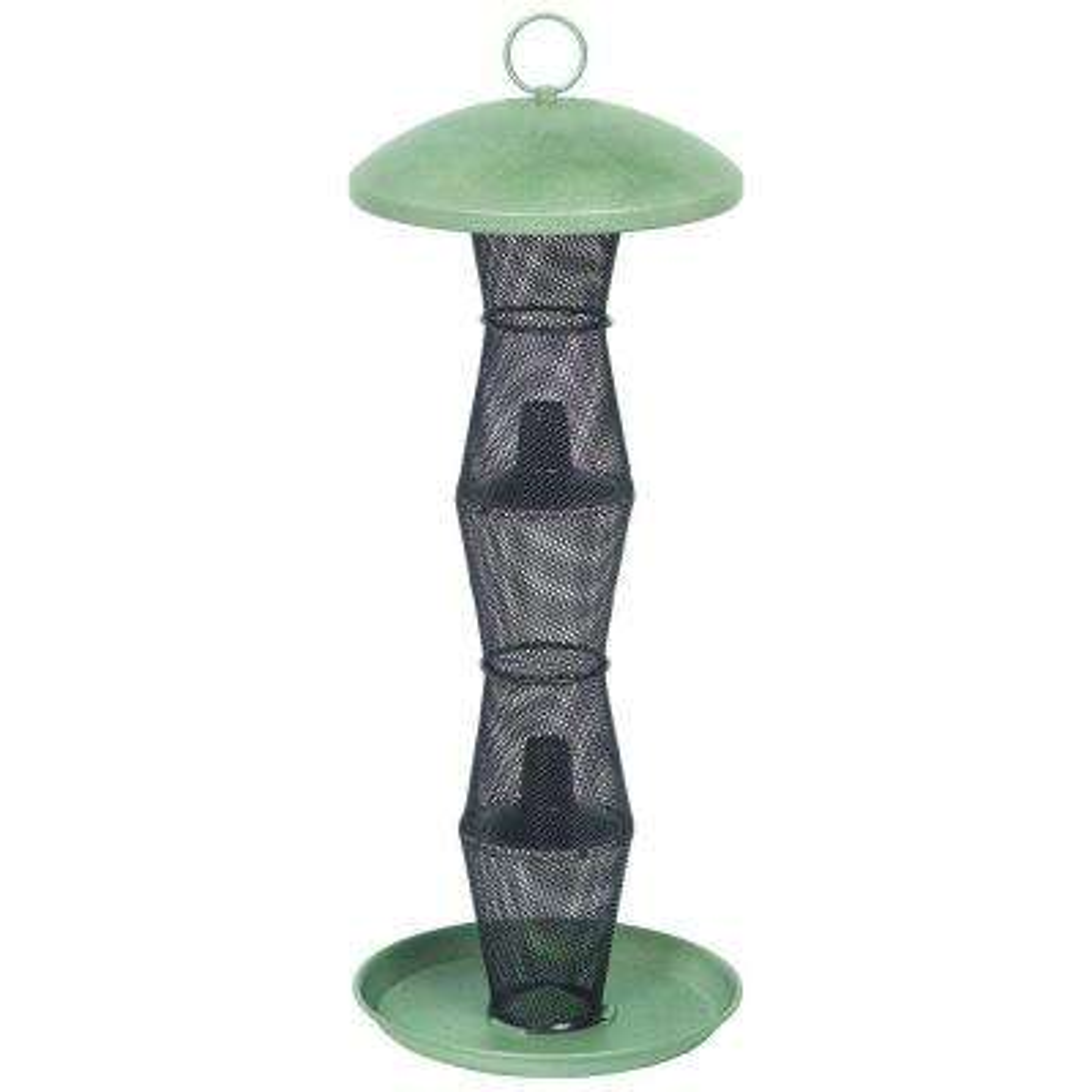Green and Black Finch Tube Bird Feeder