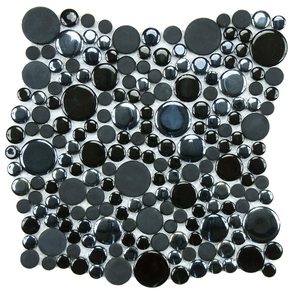 Cosmo Bubble Black 11-1/4 in. x 12 in. x 8 mm