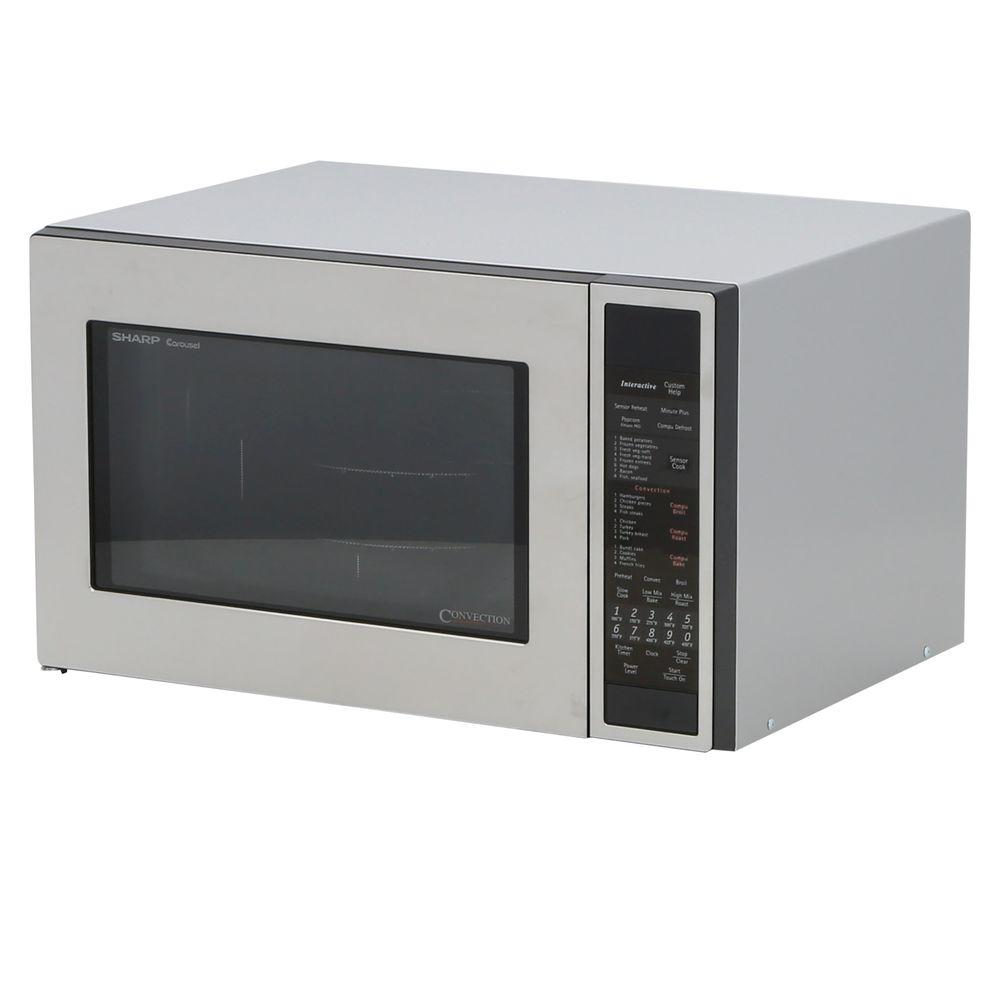 Countertop Convection Microwave In Stainless Steel R930cs The Home Depot