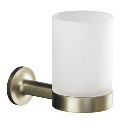 Purist Tumbler and Holder in Vibrant Brushed Nickel