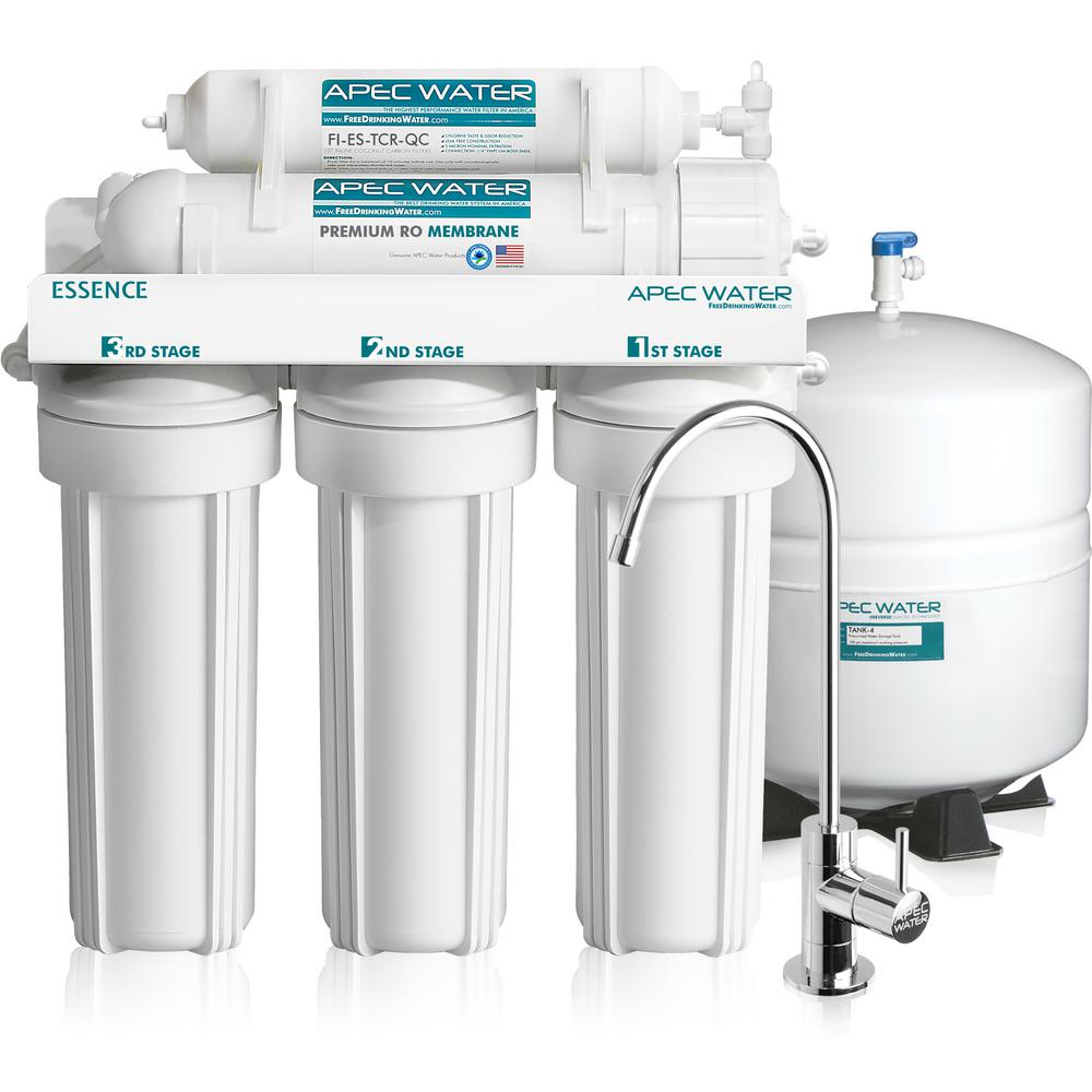 Apec water systems essence premium quality 5 stage under for Garden water filter system