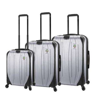 Compaz 3-Piece Silver Hardside Spinner Luggage Set