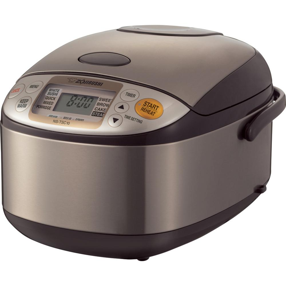 Zojirushi Micom Rice Cooker and Warmer Stainless 5 Cup, S...