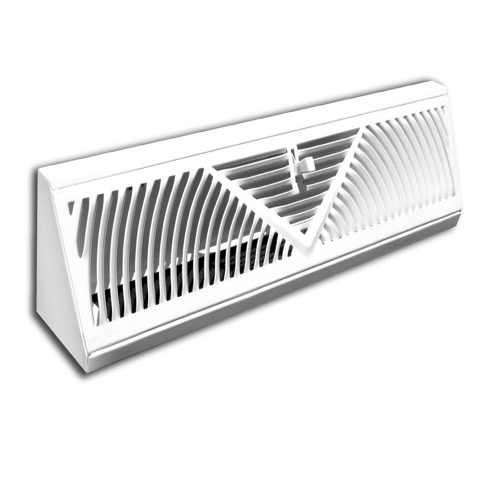 Truaire 24 In Baseboard Diffuser Supply H120sw The Home