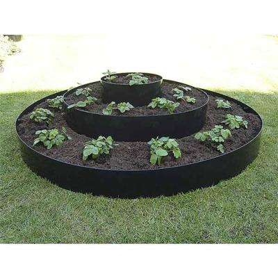 18 in. Black Polyethylene Eco Raised Garden Bed