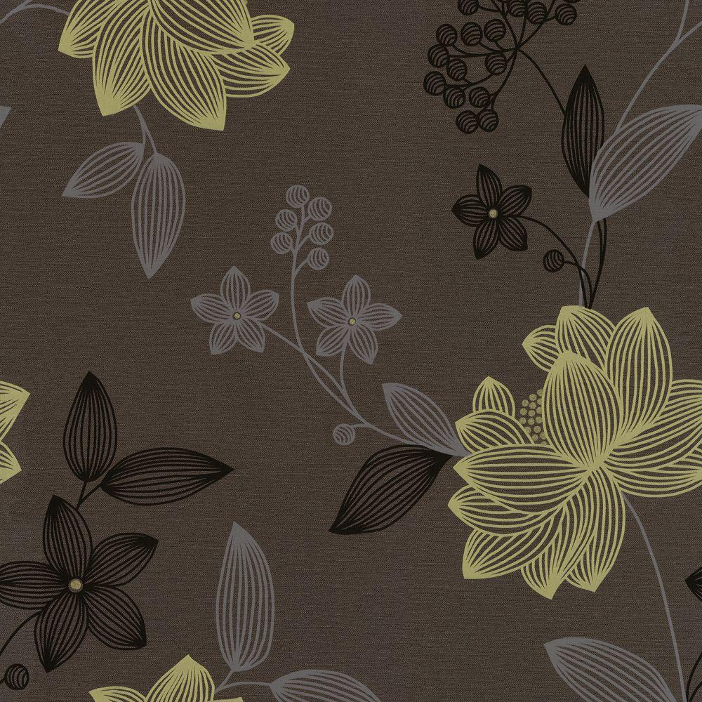 The Wallpaper Company 56 sq. ft. Limani Floral Wallpaper-DISCONTINUED