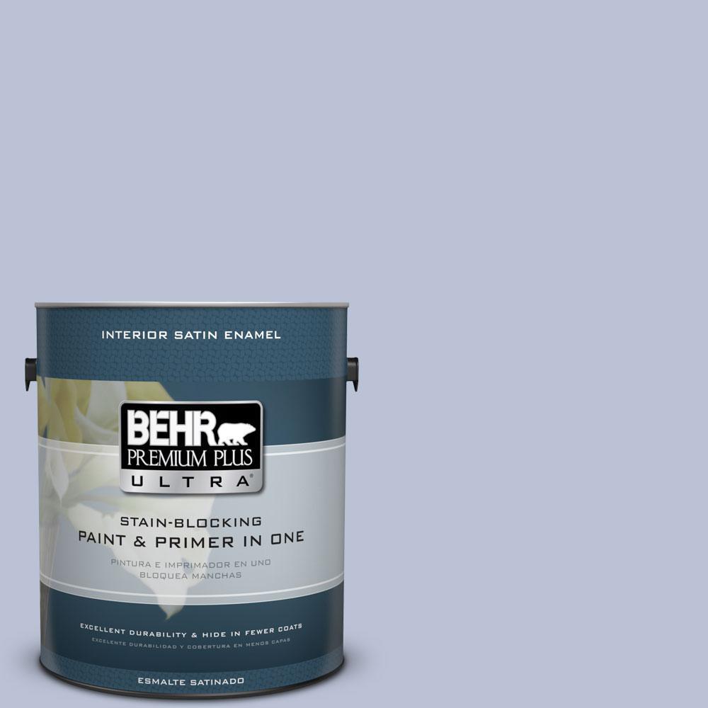 BEHR Premium Plus Ultra 1-gal. #590E-3 Hyacinth Tint Satin Enamel Interior Paint