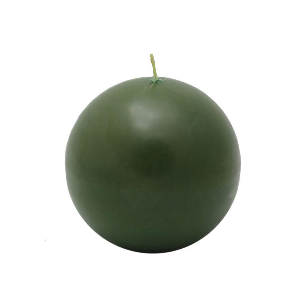 4 in. Hunter Green Ball Candles (2-Box), Greens