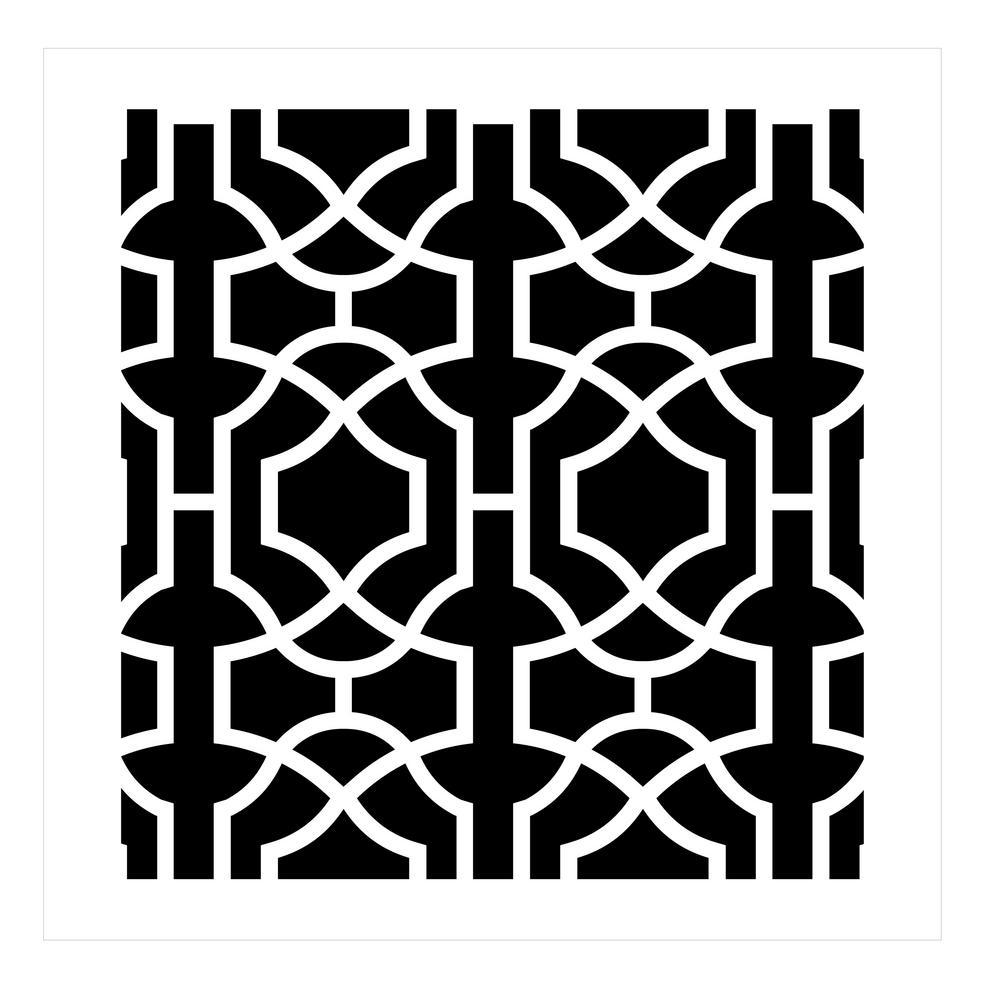 Moroccan Trellis All Over Stencil Pattern (10 mil Plastic)