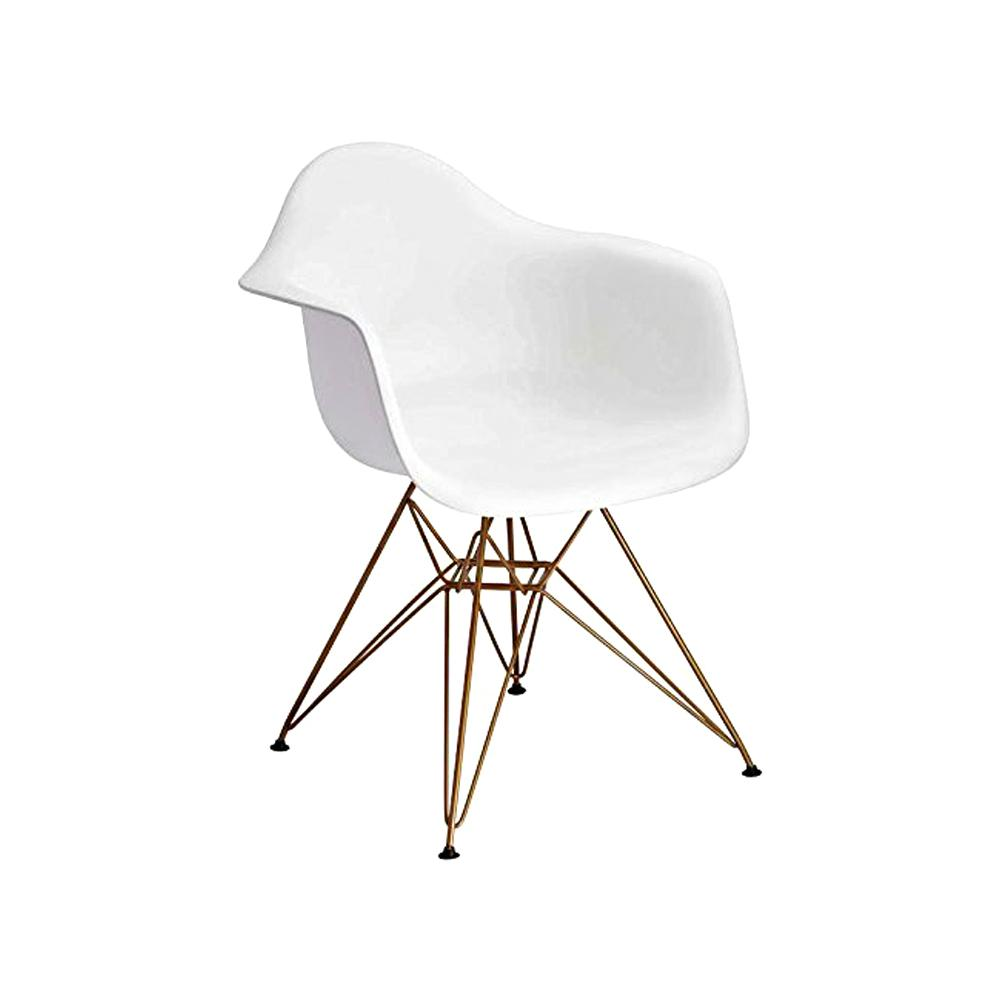 Astonishing Banks White Arm Side Chair With Gold Legs Caraccident5 Cool Chair Designs And Ideas Caraccident5Info