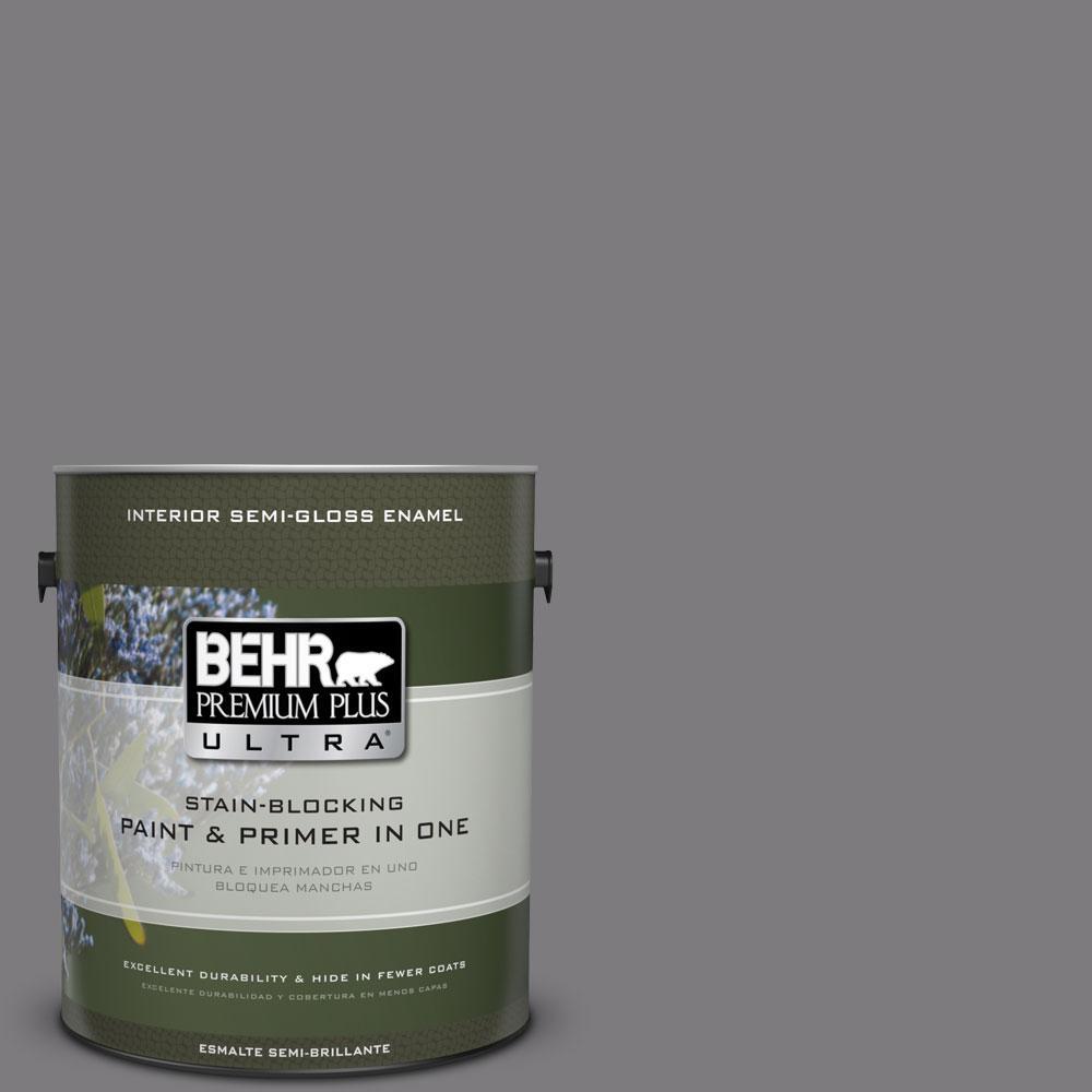 BEHR Premium Plus Ultra 1-gal. #BXC-58 Stormy Gray Semi-Gloss Enamel Interior Paint