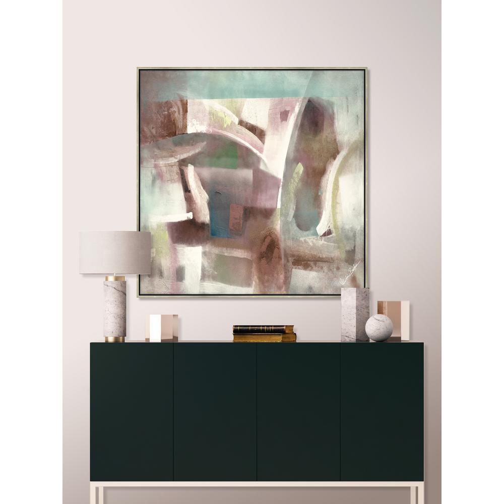 "31 in. x 31 in. ""Pastel Panache"" Framed Canvas Wall Art"
