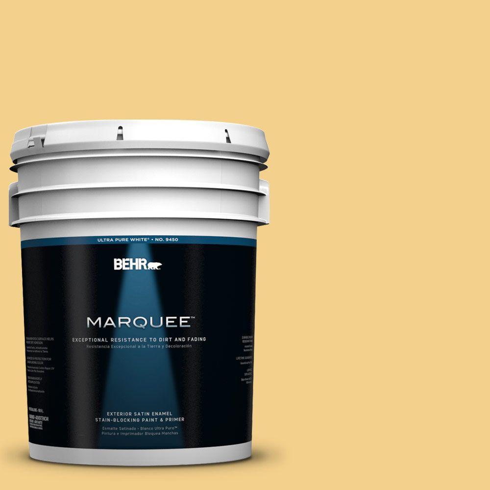 BEHR MARQUEE 5-gal. #360D-4 Warm Glow Satin Enamel Exterior Paint