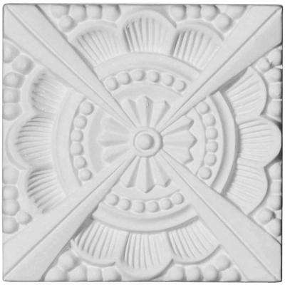 1/2 in. x 2-3/8 in. x 2-3/8 in. Polyurethane Palmetto Beaded Rosette