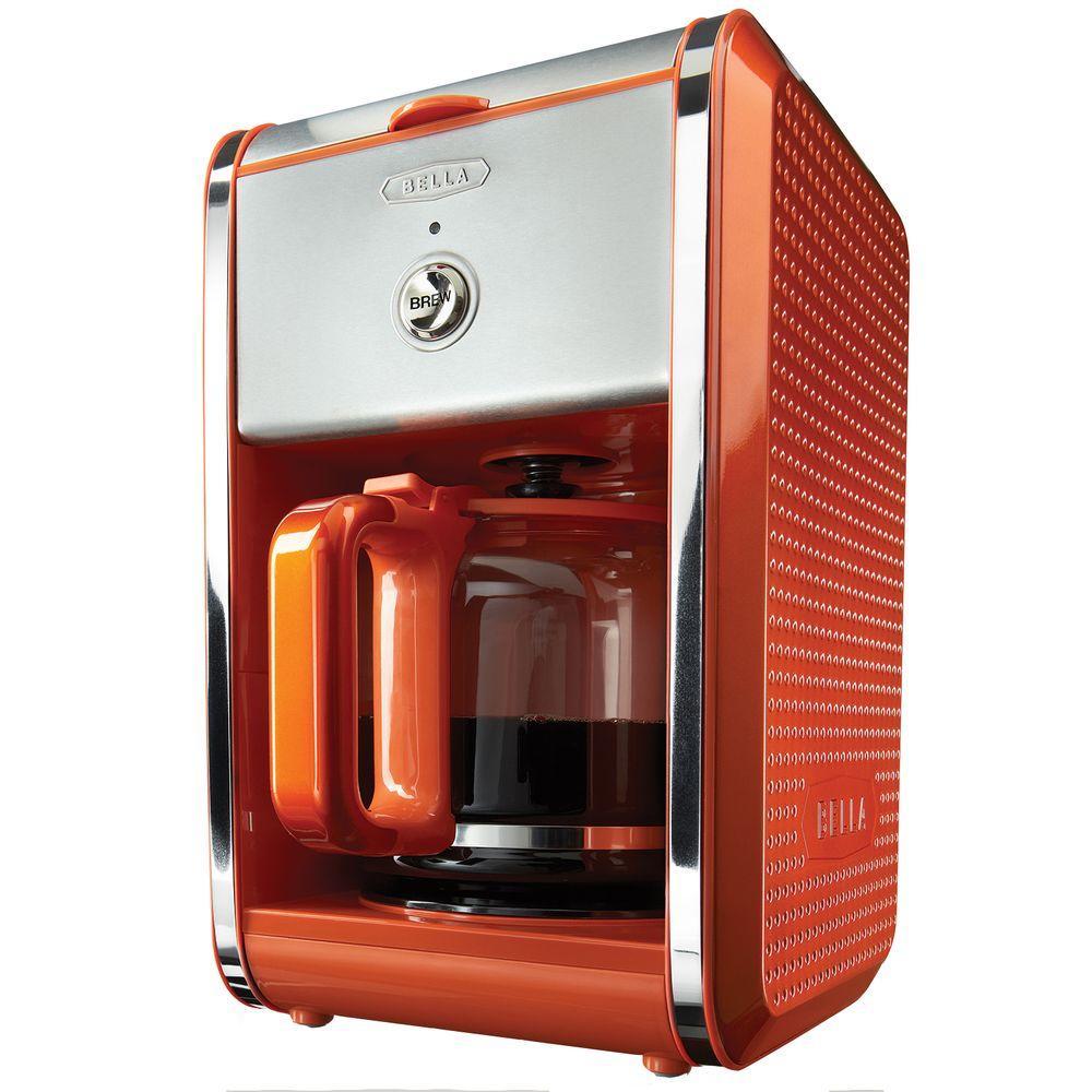 Bella Dots 12-Cup Coffee Maker in Orange