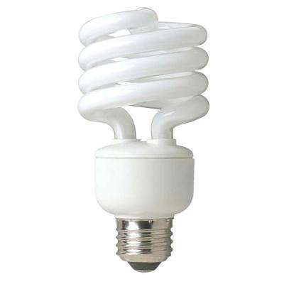 100W Equivalent Soft White Spiral Double Life CFL Light Bulb (4-Pack)