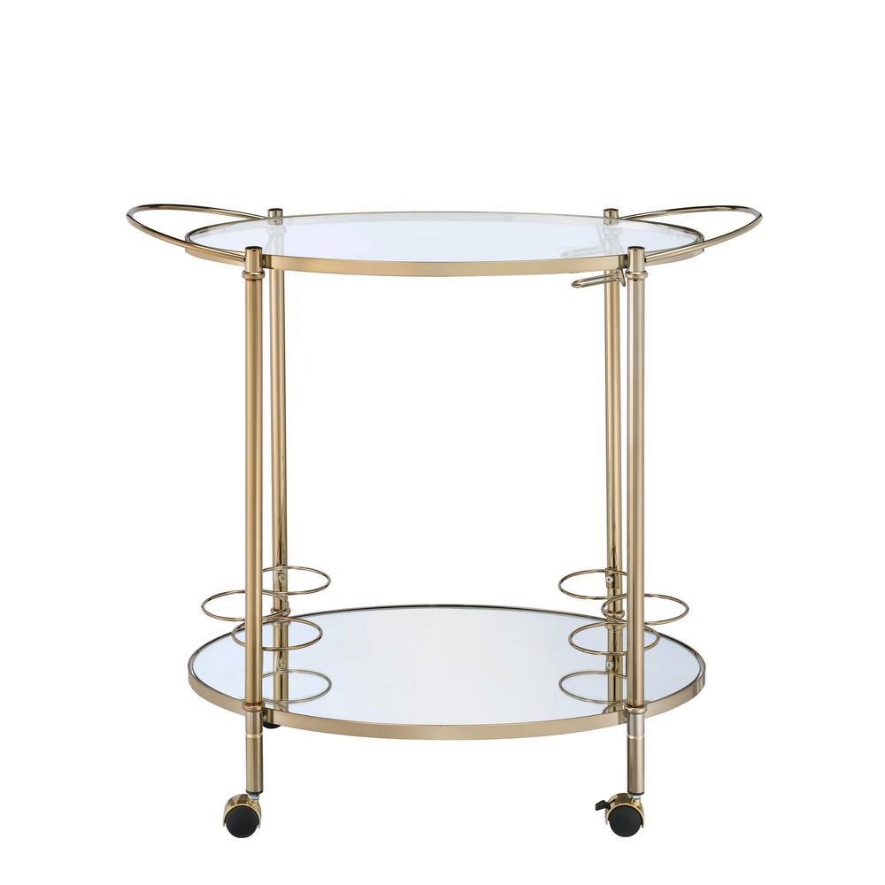 Acme Furniture Zadok Champagne Serving Cart