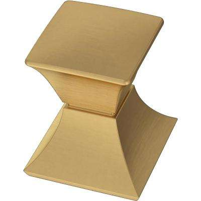 Modern Luxe 1-1/16 in. (27 mm) Brushed Brass Cabinet Knob