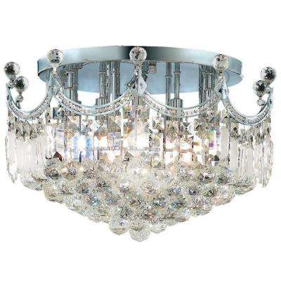 Empire Collection 9-Light Chrome and Crystal Ceiling Light