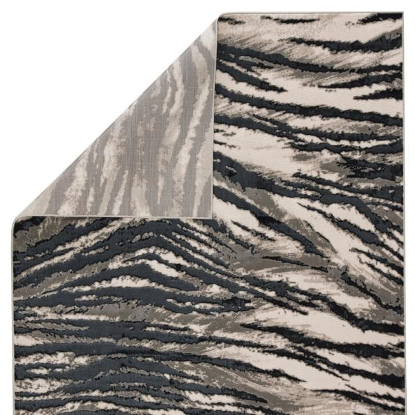 Meza Black Gray 7 Ft 10 In X 10 Ft 6 In Animal Rectangle Area Rug Rkg145267 The Home Depot