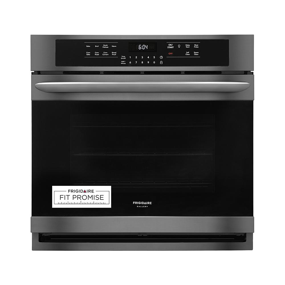 Frigidaire Gallery 30 in. Single Electric Wall Oven with True Convection Self-Cleaning in Black Stainless Steel