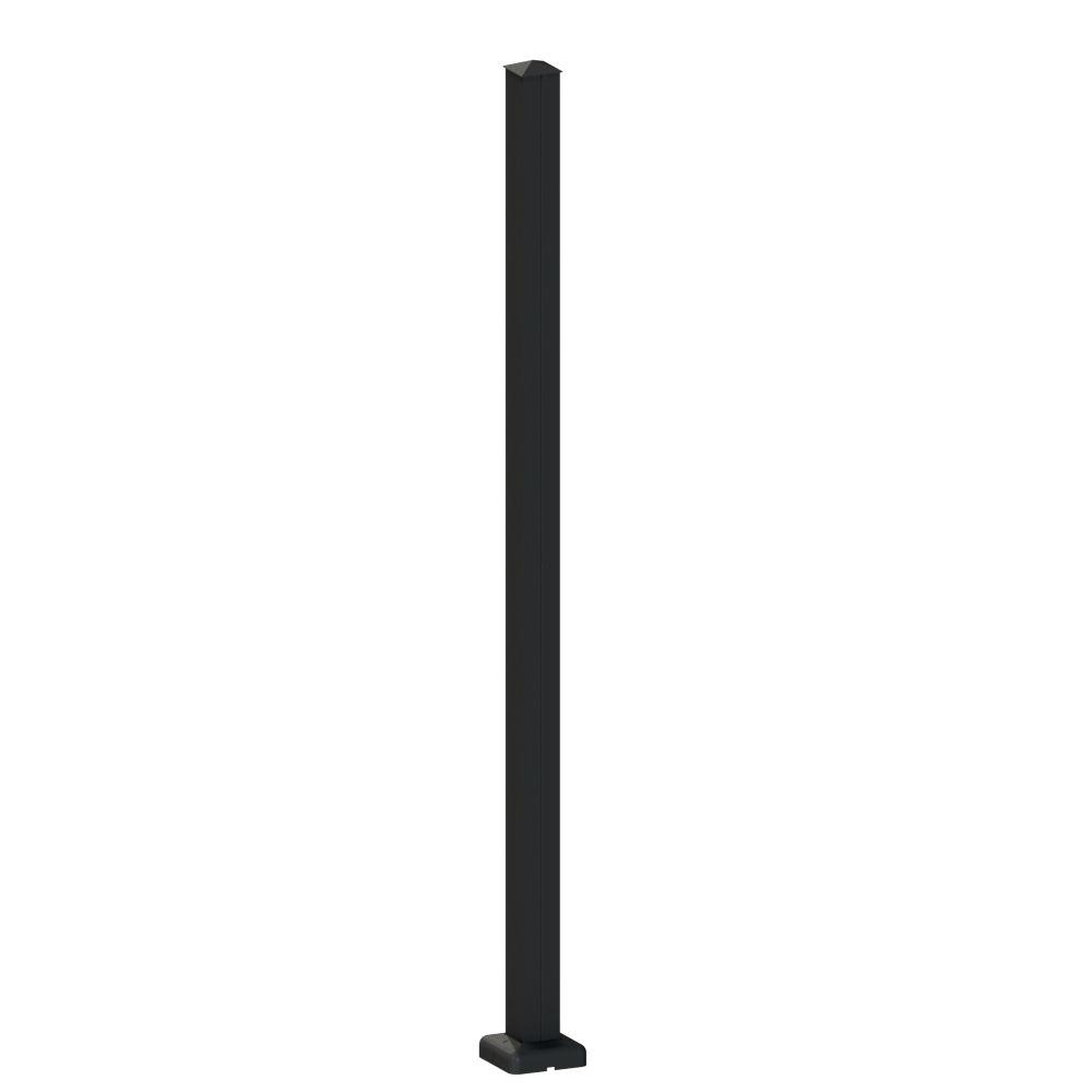 Aquatine 4 in. x 4 in. x 4.18 ft. Black Aluminum
