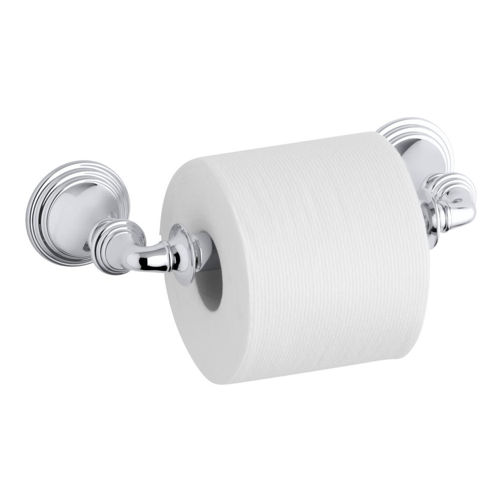 Kohler Devonshire Wall Mount Double Post Toilet Paper Holder In Polished Chrome