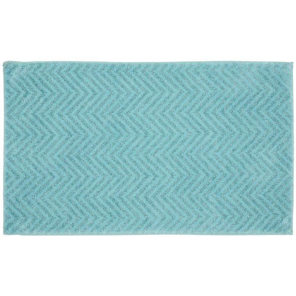 Garland Rug Palazzo Seafoam 21 In X 34 In Bath Rug Ba090w021034i6 The Home Depot
