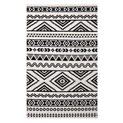 Haku Geometric Moroccan Tribal 8 ft. x 10 ft. Area Rug in Black and White