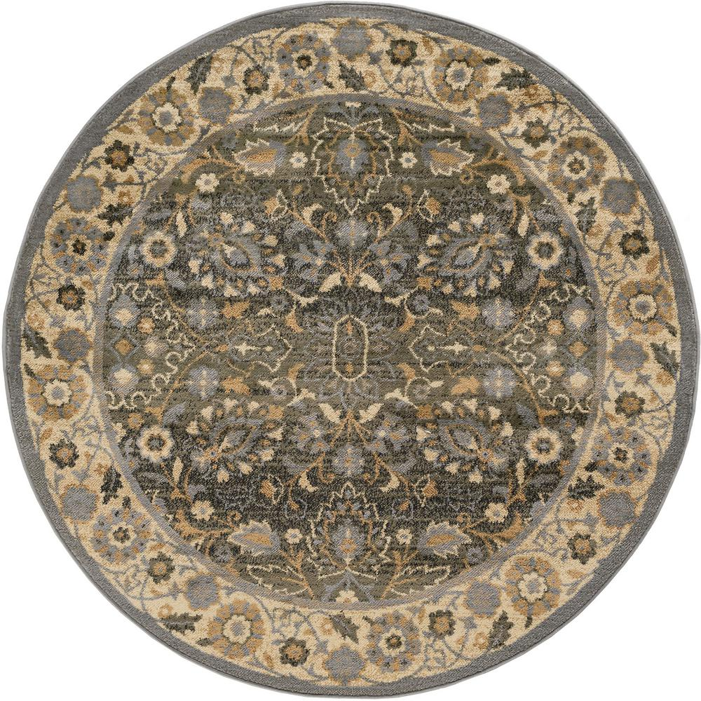 Elegance Blue 5 ft. 3 in. Round Area Rug