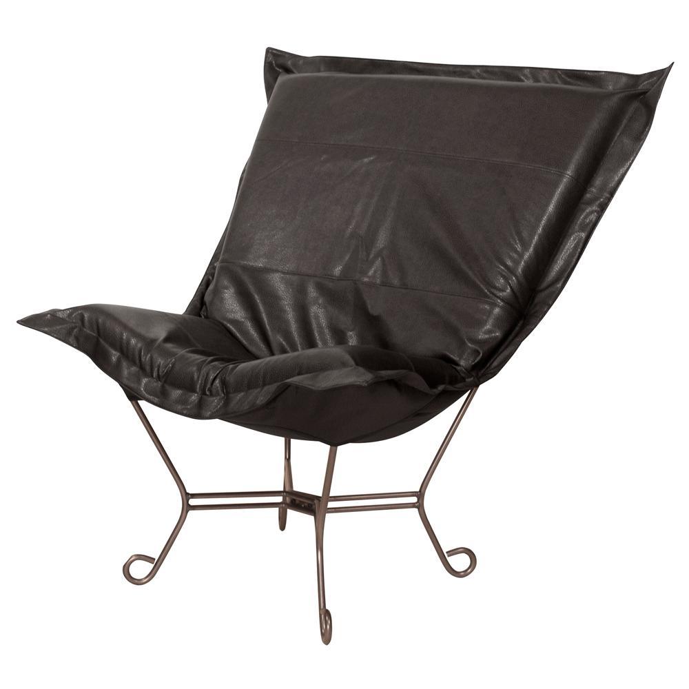 Puff Avanti Black Scroll Chair