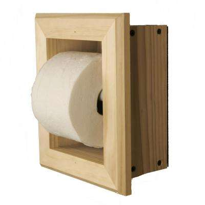 Newton Recessed Toilet Paper Holder 7 Holder in Unfinished with Bevel Frame