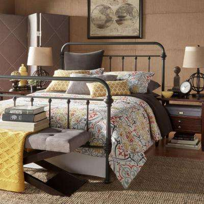 Calabria Grey Queen Bed Frame