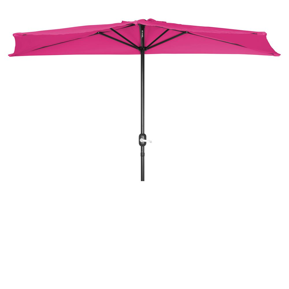 Trademark Innovations 9 Ft Market Half Patio Umbrella In