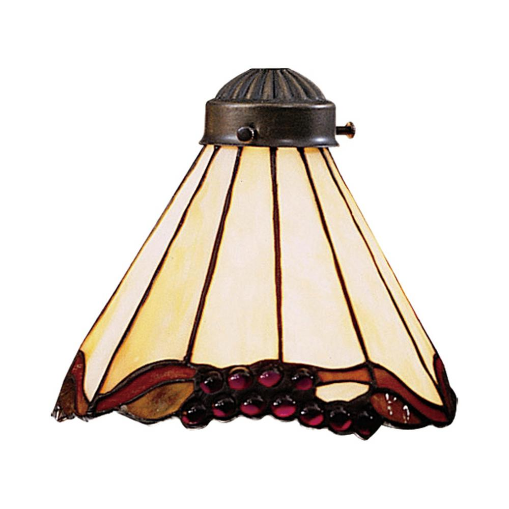 Mix n match 1 light stained honey dune tiffany glass shade