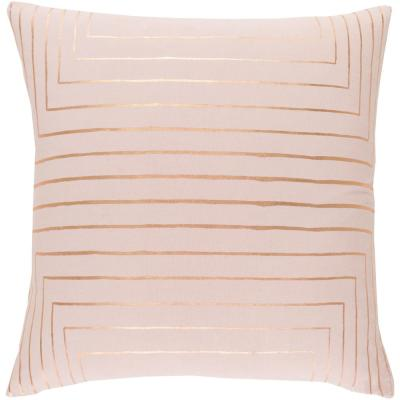 Shrewsbury Pink Geometric Polyester 18 in. x 18 in. Throw Pillow