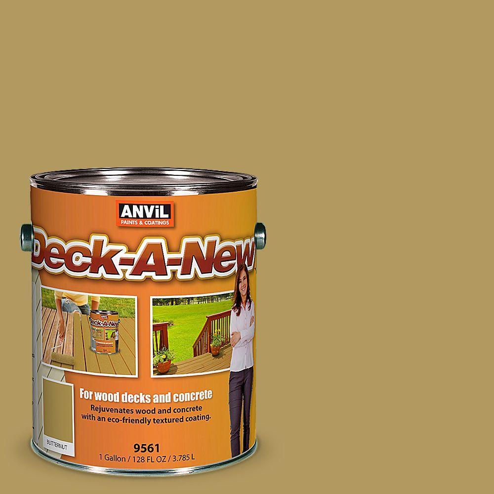 Deck-A-New 1 gal. Butternut Rejuvenates Wood and Concrete Decks Premium Textured Resurfacer