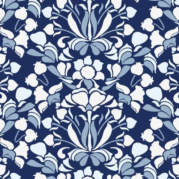 Mitchell Black Nomad Collection Sanpdragon in Navy Blue Removable and Repositionable Wallpaper