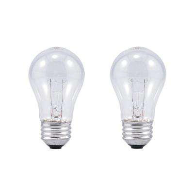 60-Watt A15 Clarity Incandescent Light Bulb (2-Pack)