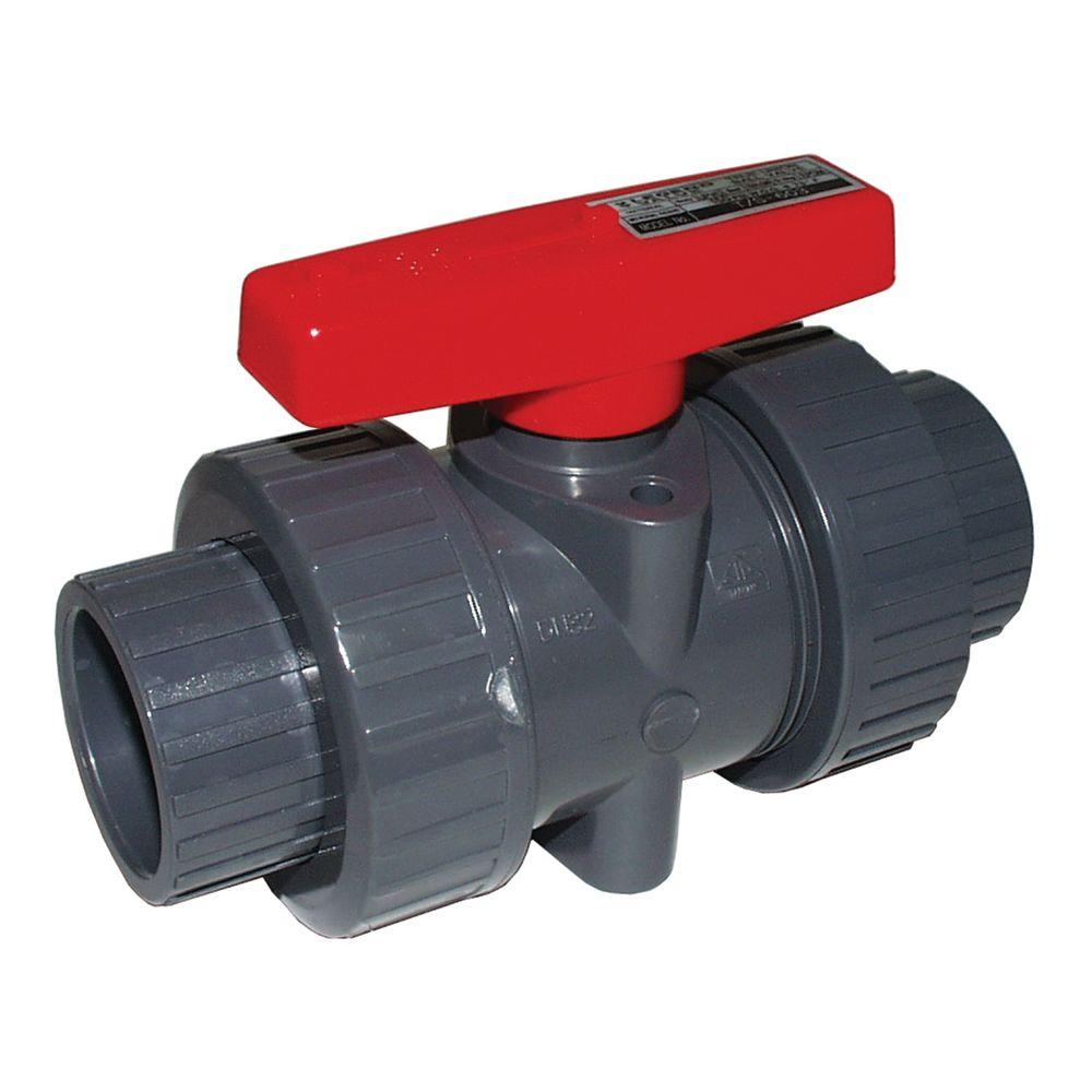 Legend Valve 4 in. PVC Sweat True Union Ball Valve
