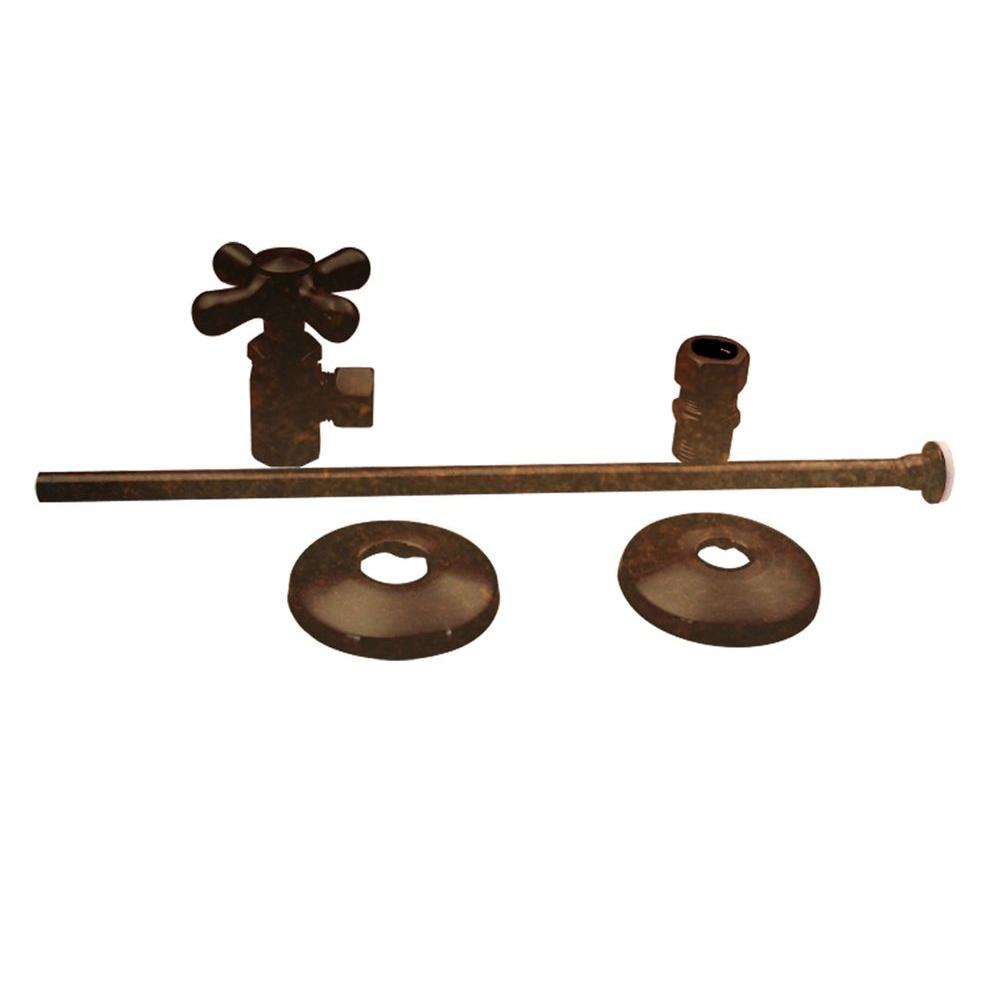 Universal Toilet Supply Kit in Tumbled Bronze