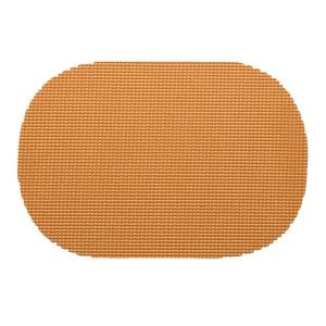 Kraftware Fishnet Oval Placemat in Toffee (Set of 12) by Kraftware