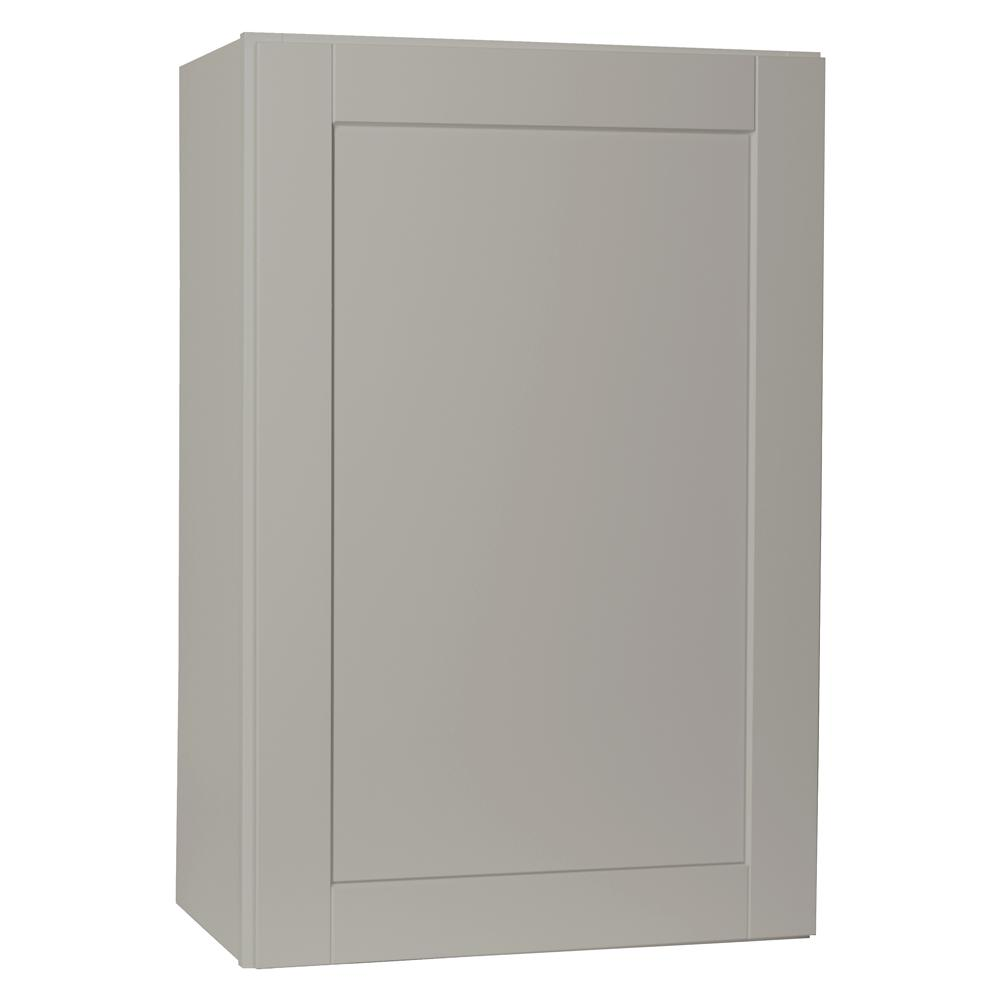 Hampton Bay Shaker Assembled 24x42x12 in. Wall Kitchen Cabinet in Dove Gray