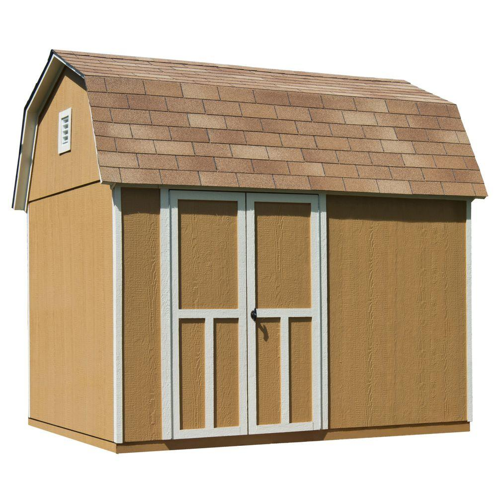 Handy Home Products Briarwood 10 Ft. X 8 Ft. Wood Storage Shed With  Floor 19352 1   The Home Depot