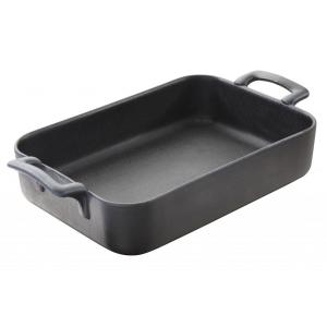 Belle Cuisine 10.25 inch x 7.25 inch Rectangular Porcelain Roasting Dish in Black by
